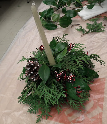 Table centerpiece for Christmas