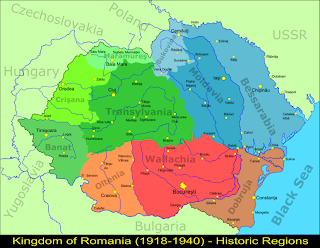 Romanian map at 1918-1940