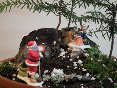 Santa Claus is coming to town, miniature landscape