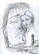 """Ilustración cubierta """"El rostro de la bella Gabrielle"""""""