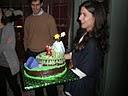 la tarta de paisaje entregada por la generosa enamorada.