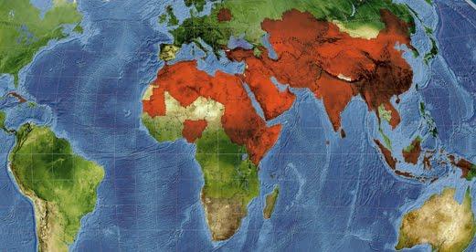Mapa revela regiões mais intolerantes ao Cristianismo.