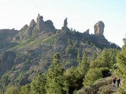 El roque Nublo, la rana,el monje y el gallo (Gran Canaria)