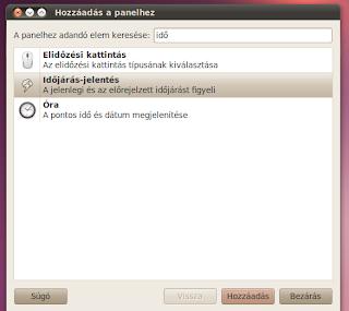 Ubuntu időjárás jelző