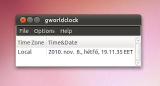 Időzóna Ubuntu Linux