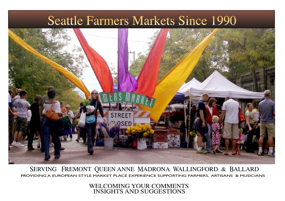 The Seattle Farmer's Markets