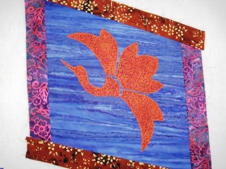 Cathy tomm quilts fish pond quilt for Koi pond quilt pattern