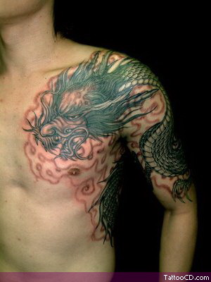 japanese dragon tattoo gallery. dragon tattoos gallery.