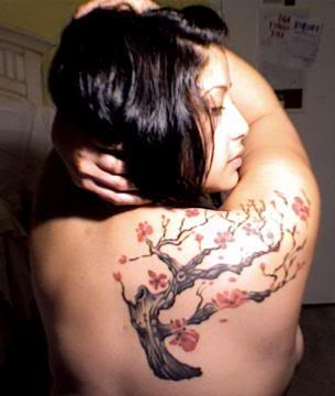 cherry blossom tattoos for girls
