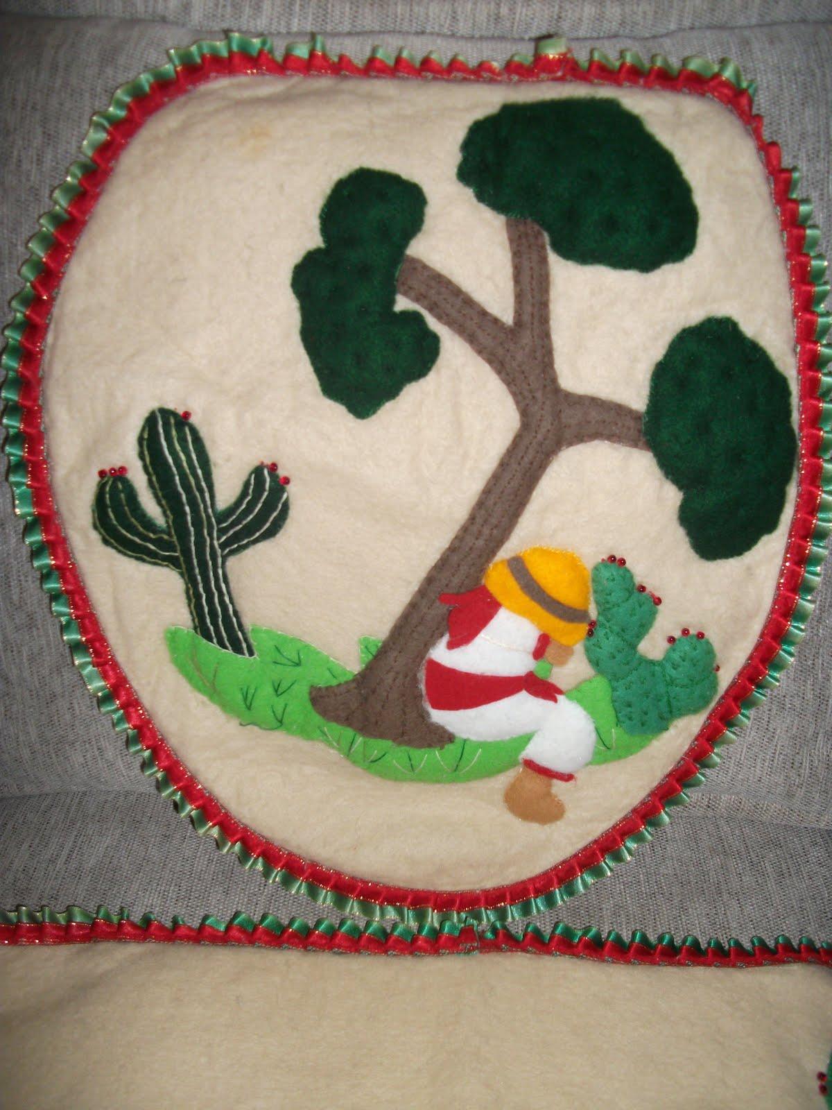 todo para eventos: juego de baÑo mexicano. - Juegos De Bano De Fieltro Para Primavera
