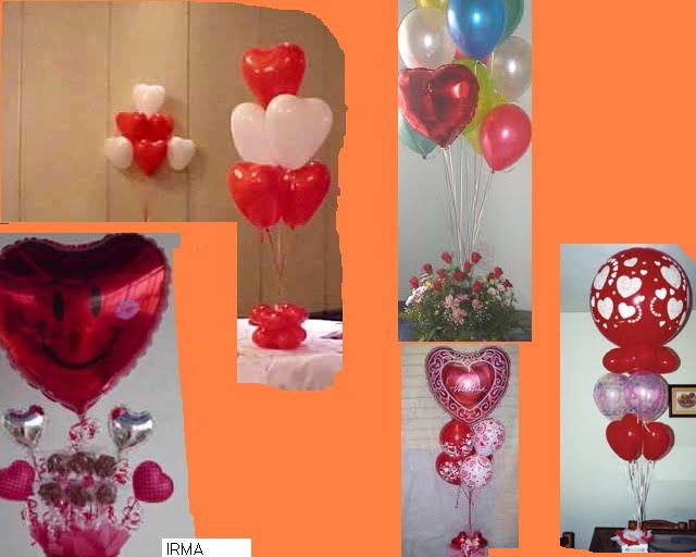 Centros de mesa infantiles con corazones - Imagui