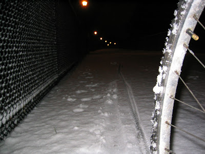snowy bicycle commute