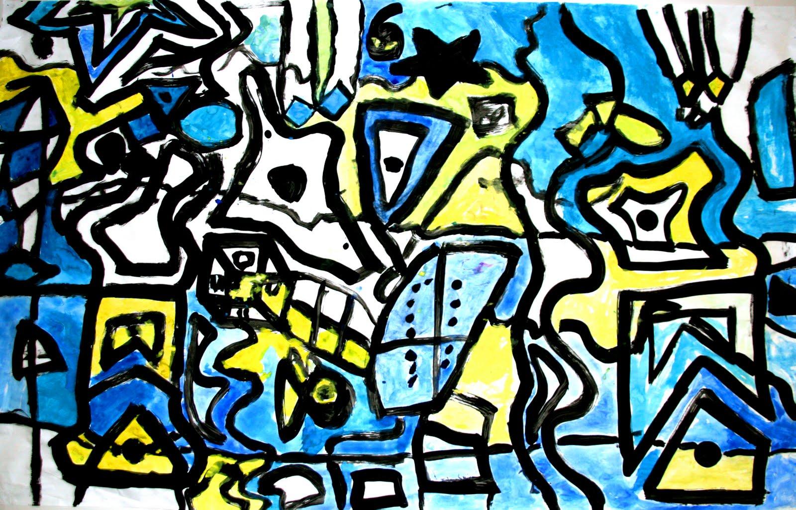 Line Art Mural : Smart class hip hop kandinsky murals