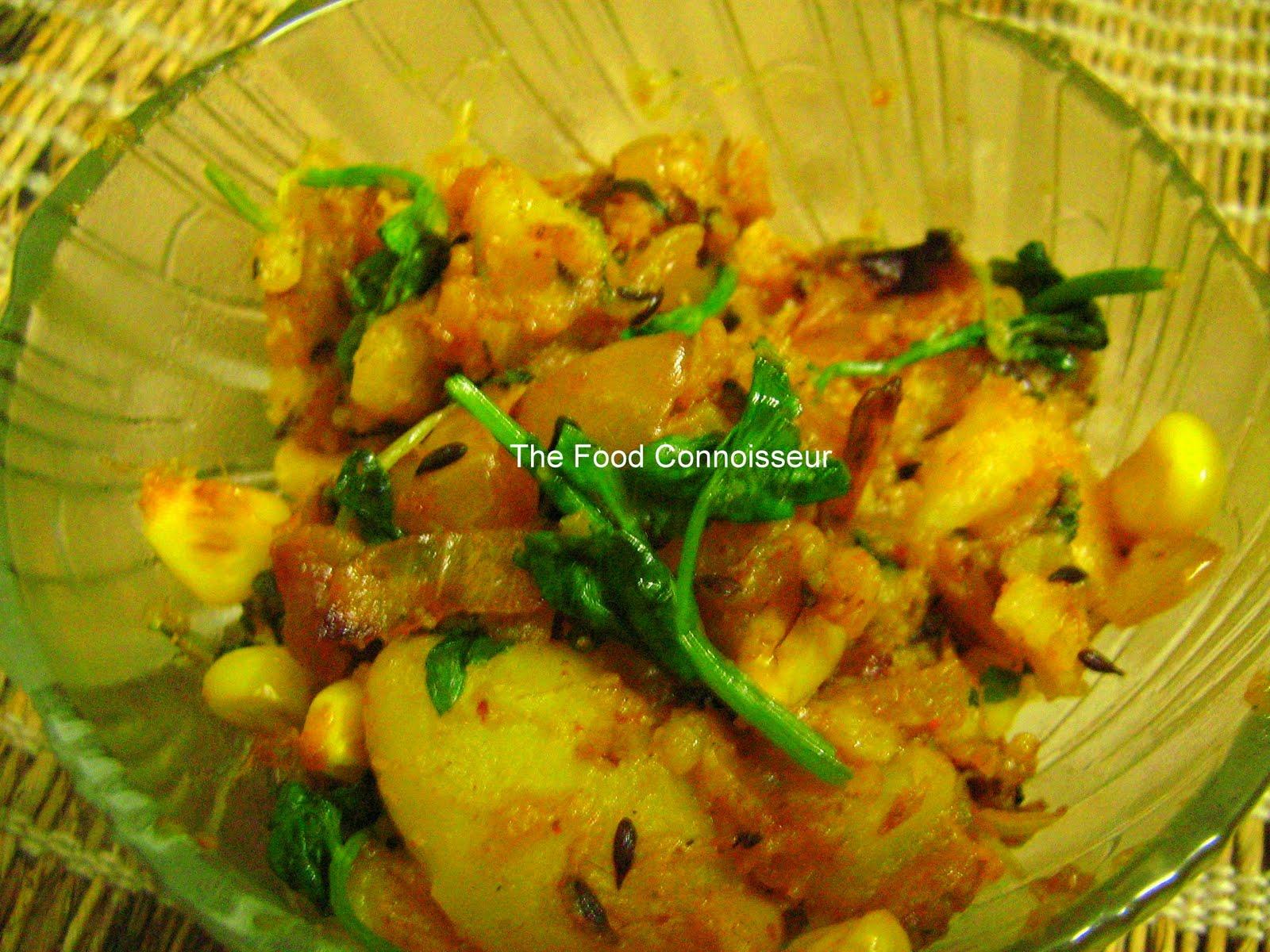 The Food Connoisseur: Aloo Methi (Potatoes with Fenugreek Leaves)