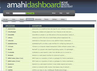 Amahi dashboard