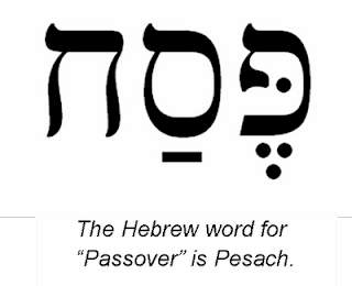 Passover typed in Hebrew and English