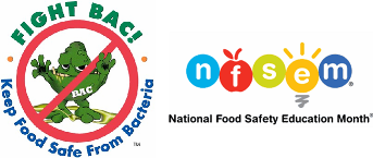 Fight Bac! and National Food Safety Education Month Logos