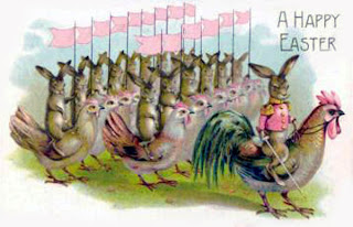 An Army Of Rabbits Riding Chickens Why This Would Have Given Me Nightmares As A Child