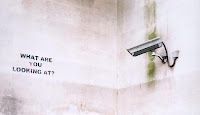 banksy what are you looking at cctv