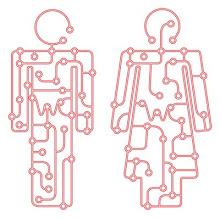 kretskort av mann og kvinne...litt inspirasjon