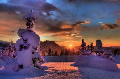 Foto Bayangan Pemandangan di Kutub