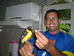 Kiko o corrupião com seu proprietário, Anderson L. Linhares!!!