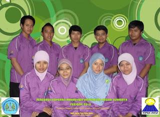 Susunan Pengurus Kopma Unesa Periode 2009 - 2011