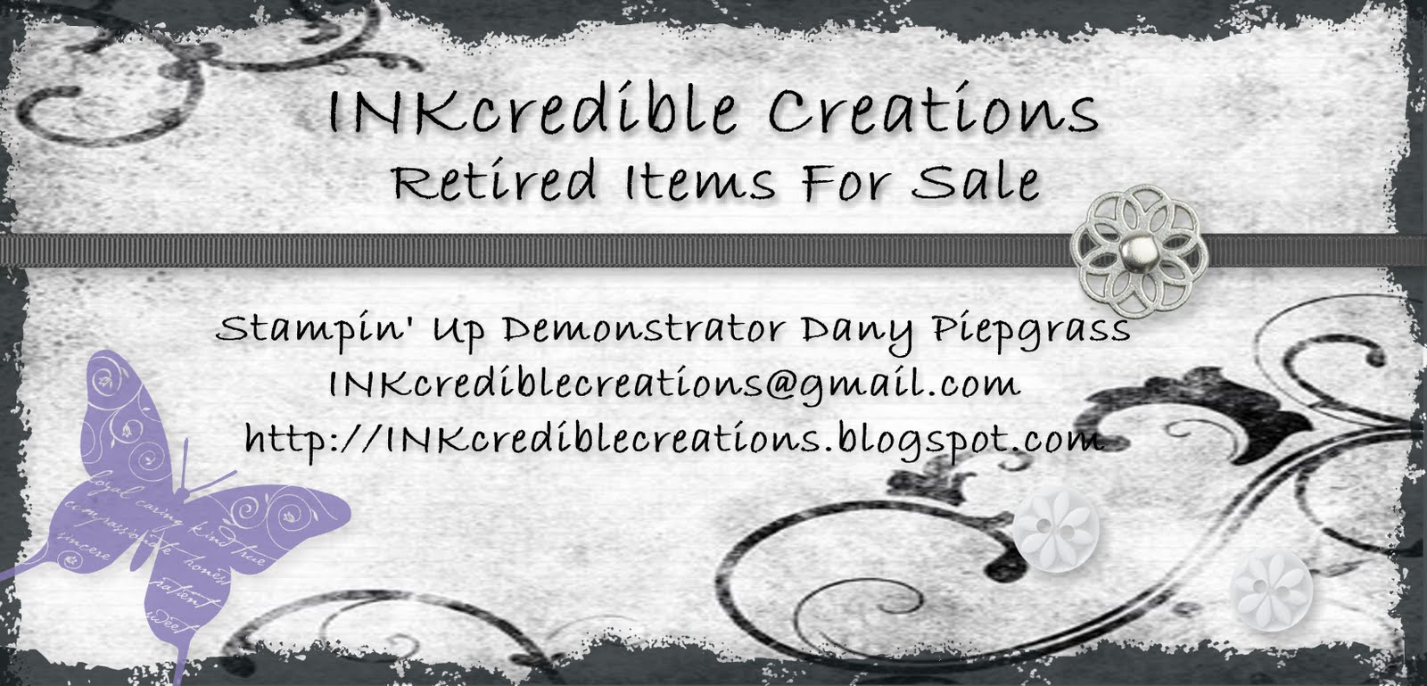 INKcredible Creations Retired Items For Sale