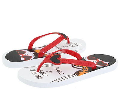Marc Jacob Heart Flip-Flops