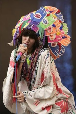 Karen O of the Yeah Yeah Yeahs at Glastonbury