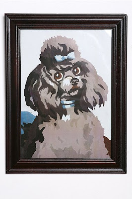 Framed Poodle Wall Art - Apartment