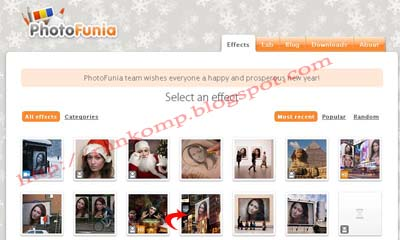 ... pertama siapkan foto atau gambar yang akan kita edit buka photofunia