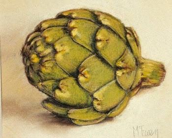 Artichoke on White Linen