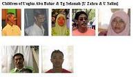 Children of U Abu Bakar & Tengku Selamah