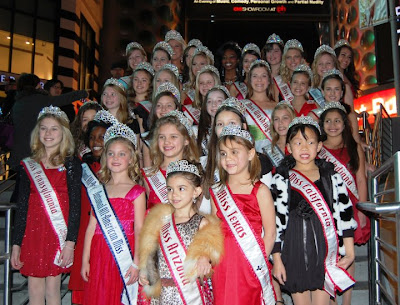 A few of the NAM girls posing outside the Planet Hollywood Hotel, where the pageant took place.