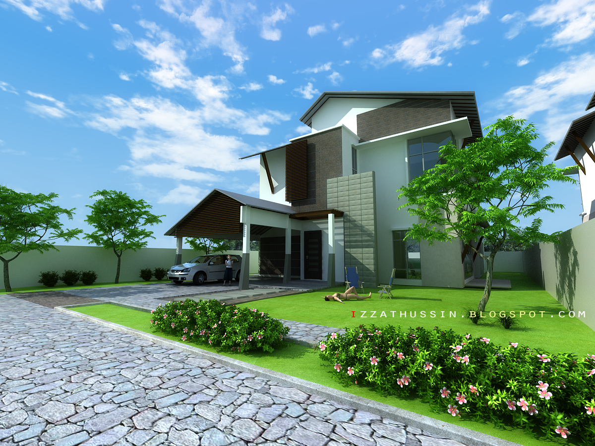 Sub blog of first exterior scene for Exterior 3ds max model