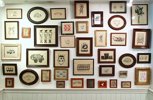 frames wall switcheroom wall display gallery