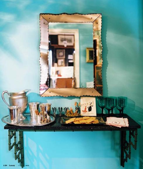 lonny, blue room, turquoise room, switcheroom
