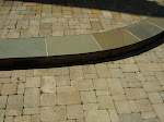 """Cobble"" type paver with Bluestone circular step tread."