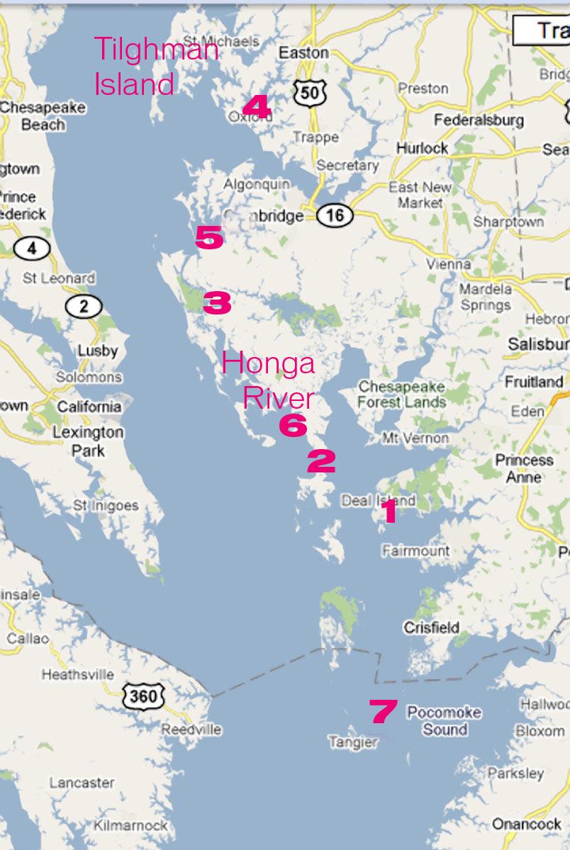 Bloodsworth Island Map