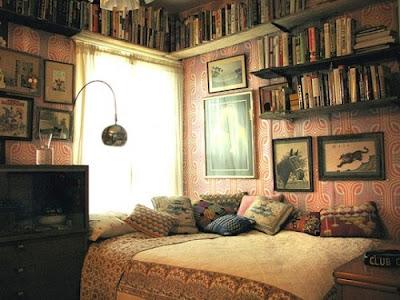 """""""ห้อง:ธิชา"""" Bedroom,books,interior,design,vintage-23e530531e3daa7dfcbe9111452d2ba7_h"""
