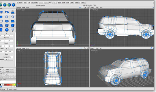 3d animation invis ac3d 3d design application