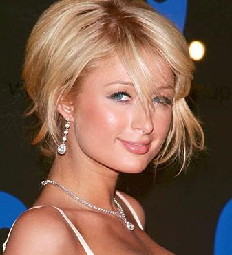 Paris Hilton Short Celebrity Hairstyles