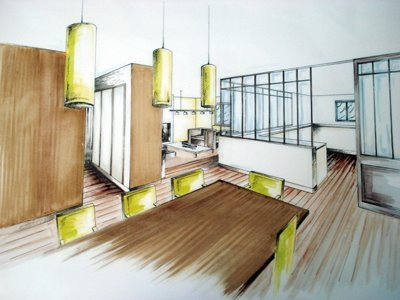 Une jeune ambitieuse en architecture d 39 interieur l for Apprendre a dessiner une maison en perspective