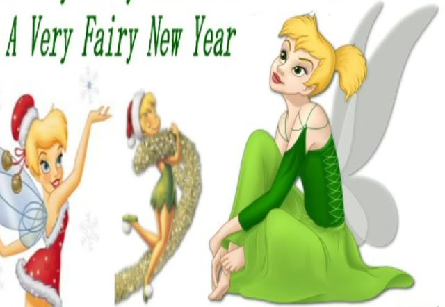 New Year Cards: Tinkerbell New Year Cards