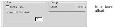 Setting borer functions