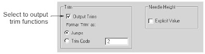 Setting trim functions