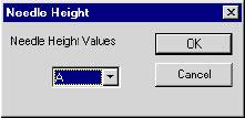 Adjusting needle height values