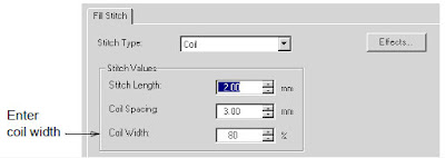 Adjusting Coil width