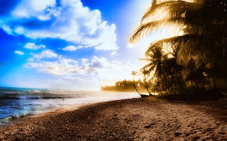 Achtergrond met zee en strand